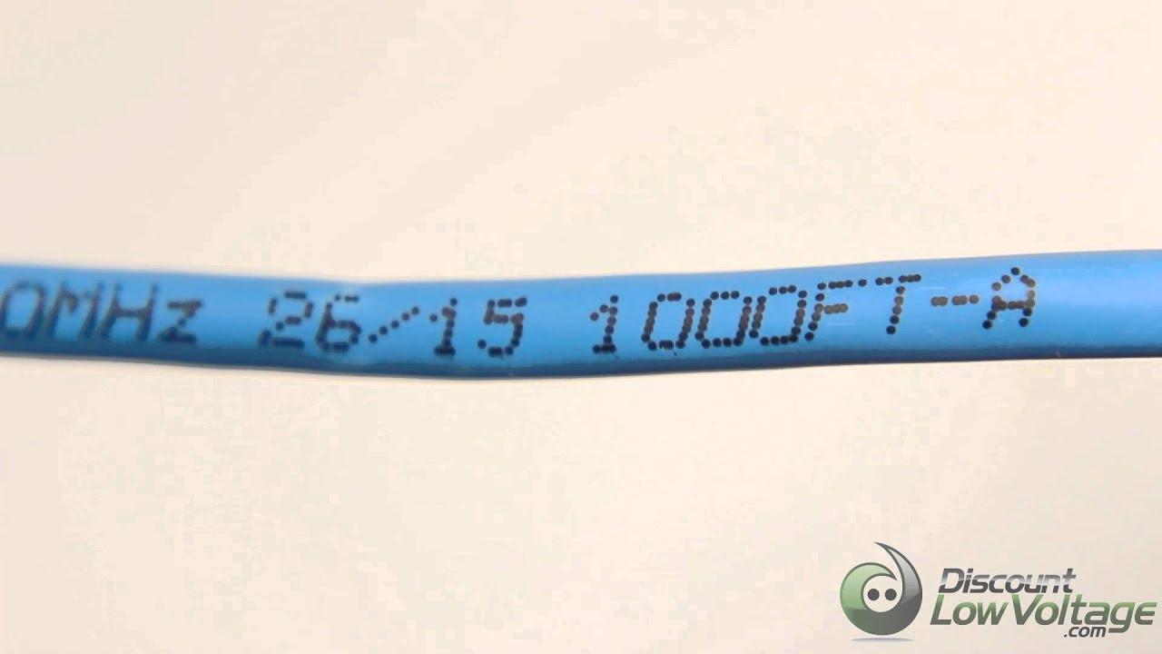 Hyperline Cat5e 350mhz Plenum Blue bulk 1,000 ft - YouTube