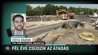 Fél éve csúszik a körforgalom átadása Budafokon! 19-08-22