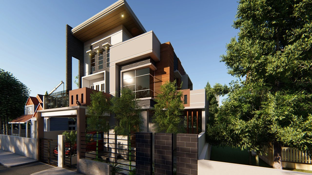 (DES #2)-MODERN 3-STOREY DREAM HOUSE WITH ROOF DECK ...