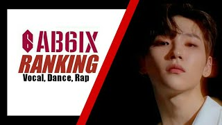 AB6IX RANKING IN DIFFERENT CATEGORY (VOCAL, DANCE, RAP)