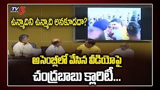 Chandrababu Clarification About AP Assembly Video | YS Jagan Unmadi Words