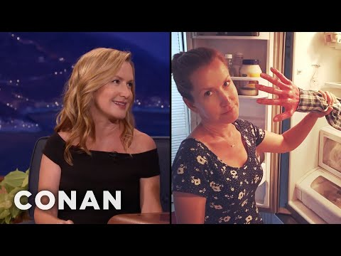 Angela Kinsey's Family Is Obsessed With Fake Severed Limbs   CONAN on TBS