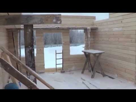 Строительство дома из профилированного бруса 150х150мм