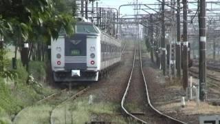 583系急行きたぐに(増結12両編成回送)吹田第六信号場通過シーン - YouTube