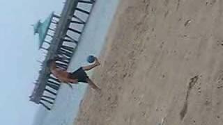 Peladinha na praia