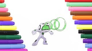 Ben 10 Echo Echo Coloring Page For Kids Coloring Book Youtube