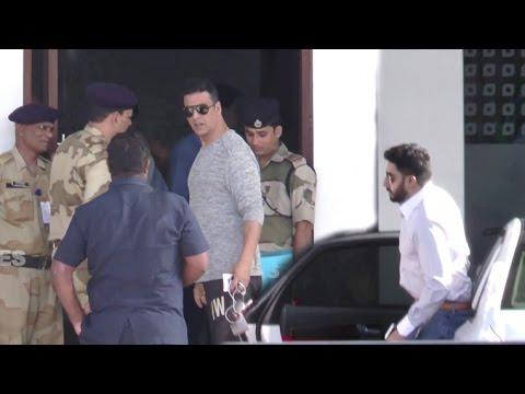 Spotted: Airport VIP Entry 27 May 2016 | Akshay Kumar, Abhishek Bachchan