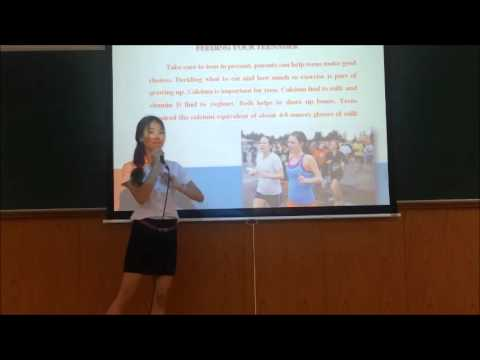 Presentation - Healthy food for teenagers