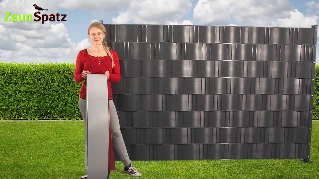 sichtschutzstreifen f r z une premium. Black Bedroom Furniture Sets. Home Design Ideas