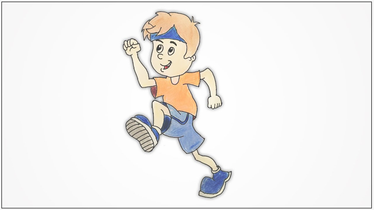 This is a photo of Adaptable Boy Running Drawing