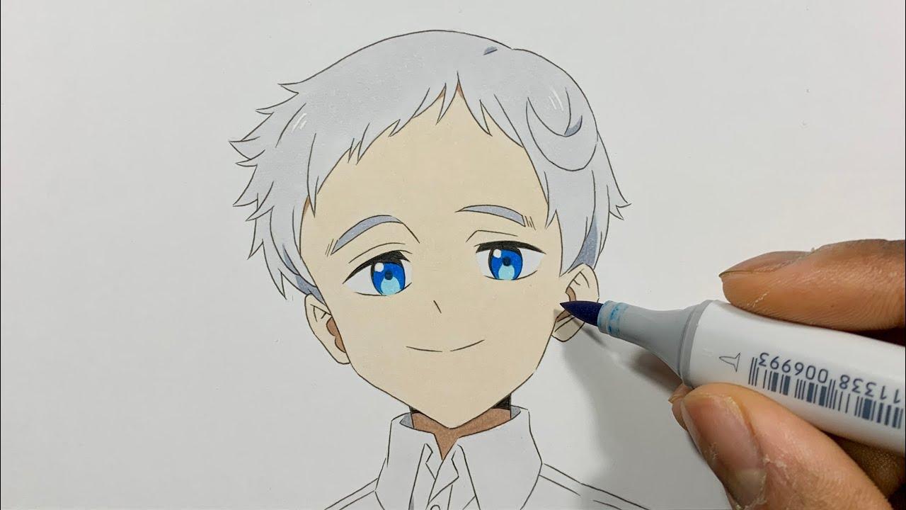 How to Draw Norman Easy - The Promised Neverland (Yakusoku no Nebārando / 約束のネバーランド)