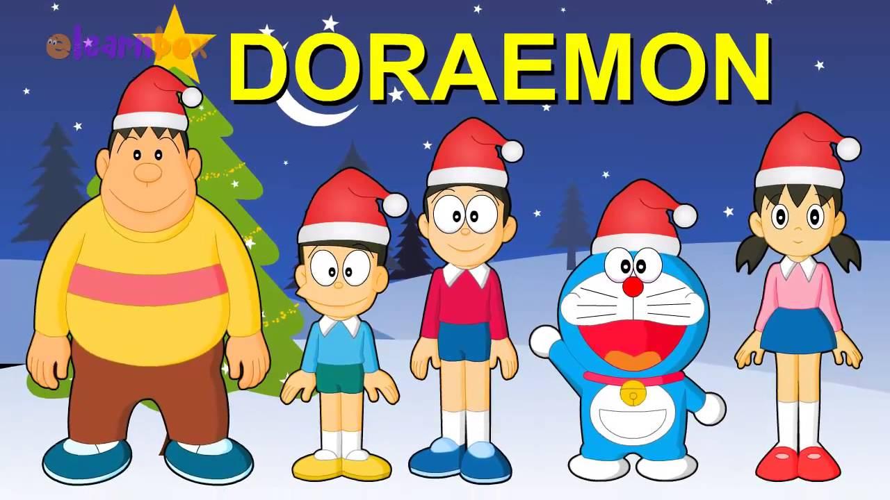 finger family doraemon catoon christmas finger famile rhyme children