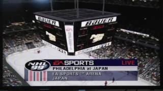 MY GOALIE SCORED! Flyers vs Japan NHL 99 on N64 OT THRILLER Let