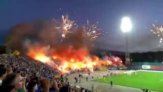 Перебор с количеством фейерверков на футбольном матче