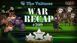 Clash of Clans ◘ War Recap #209 ◘ The Vultures TH 9 Domination !