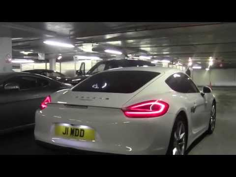 White Porsche Cayman S gets loud at Posh Wash
