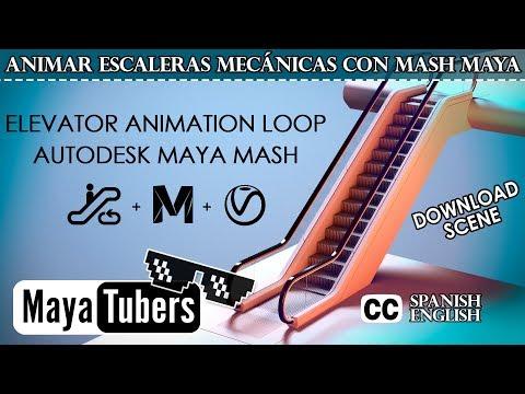 Modelar y Animar Escaleras Mecanicas con Autodesk Maya MASH y Renderizado con VRay - MayaTubers