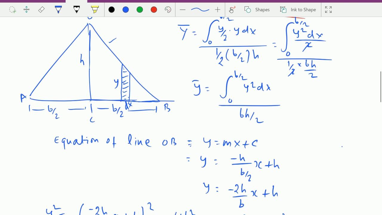 Engineering mechanics   - C.G. of triangle by integration. - YouTube 88750b62ab