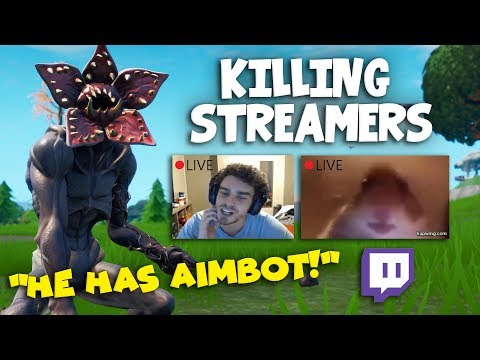 Killing Twitch Streamers #5 - Fortnite Battle Royale (with Reactions)
