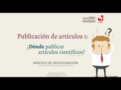 ¿Dónde Publicar Artículos Científicos?