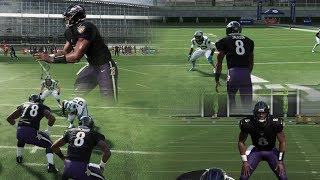 LAMAR JACKSON PLAYS EVERY POSITION! [QB, RB, WR, TE] MADDEN 20 GAMEPLAY