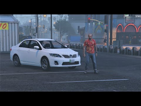 Trevor Drives Uber Toyota Corolla 2013 | Real Life Mod # 170 l GTA 5 | Urdu | Leon Gaming