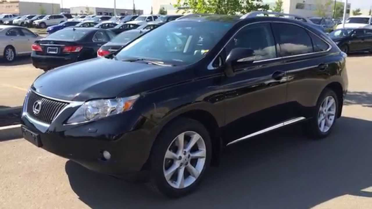 pre owned black on black 2010 lexus rx 350 awd touring. Black Bedroom Furniture Sets. Home Design Ideas