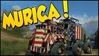 Crossout ➤ MURICA! - War Rig Of Freedom! [Crossout Gameplay](Crossout ➤ MURICA! - War Rig Of Freedom! [Crossout Gameplay] Crossout is a post-apocalyptic MMO-action game for the PC. The game offers PvP ..., 2016-07-04T17:41:10.000Z)