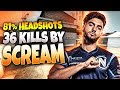 CS:GO - ScreaM 36 frags (81% Headshots) on Cache @ FACEIT