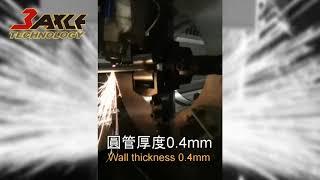〔光纖雷射金屬切管機〕TAHT-M65切割6mm圓管。管材雷射切割機