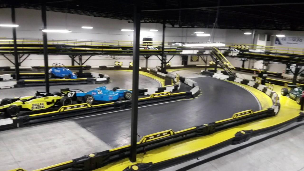 Go Karts Indianapolis >> Fast Food Indoor Go Kart Track At Indianapolis Restaurant Youtube