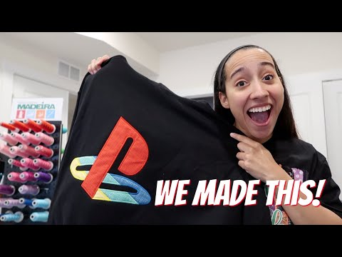 Making a Playstation 5 Hoodie! Embroidery, Vinyl & DTG