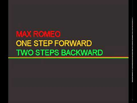 One step forward, two steps backwards