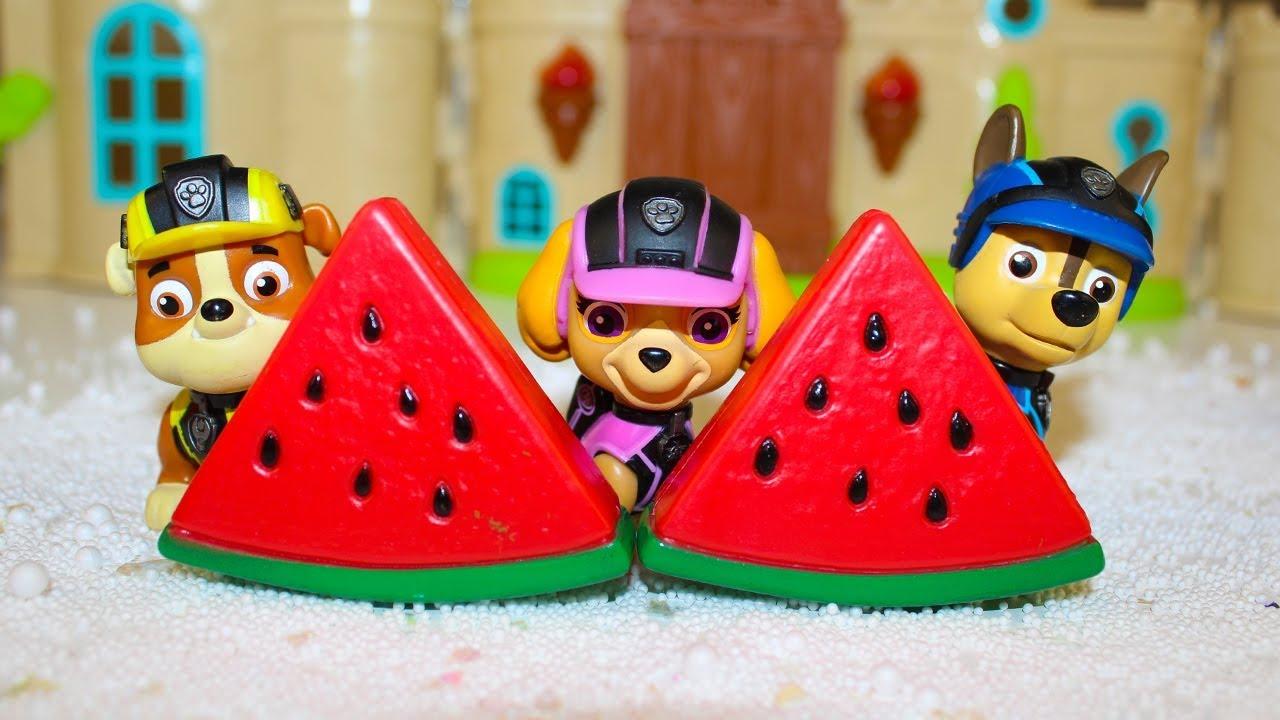 Мультики для детей Щенячий патруль Учим овощи и фрукты ...