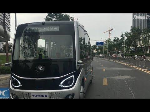 5G self-driving buses hit the road in Zhengzhou, China