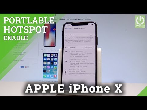 How to make a hotspot iphone x