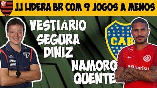 São Paulo banca Diniz após reação no vestiário / JJ líder com 9 jogos a menos / Guerrero no Boca?