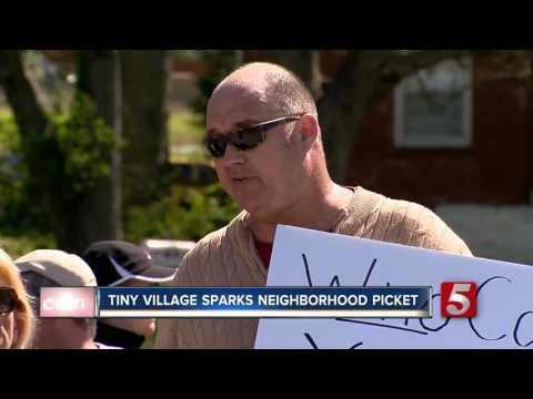 Neighbors Protest 'Tiny Village' On Church Land