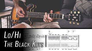 Lo/Hi Easy Guitar Tutorial | The Black Keys | w/ Chords and Tab Video
