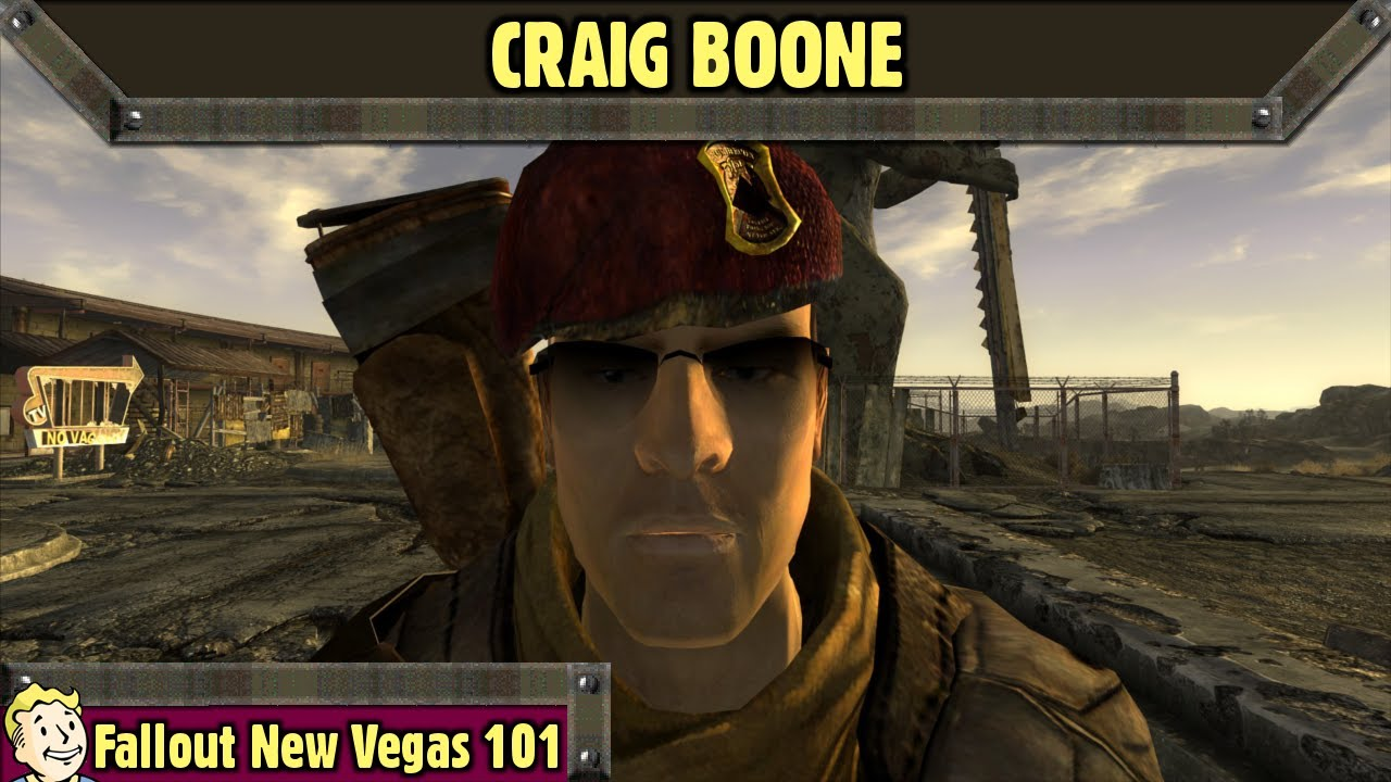 Fallout New Vegas 101 : Craig Boone - YouTube