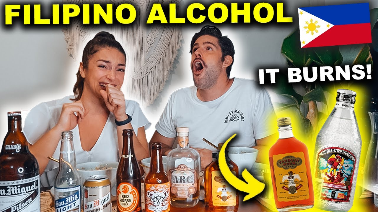 FOREIGNERS try FILIPINO ALCOHOL - we had NO IDEA it's so STRONG!