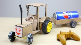 How to Make a Simple Remote Control Tractor At Home - Mr H2