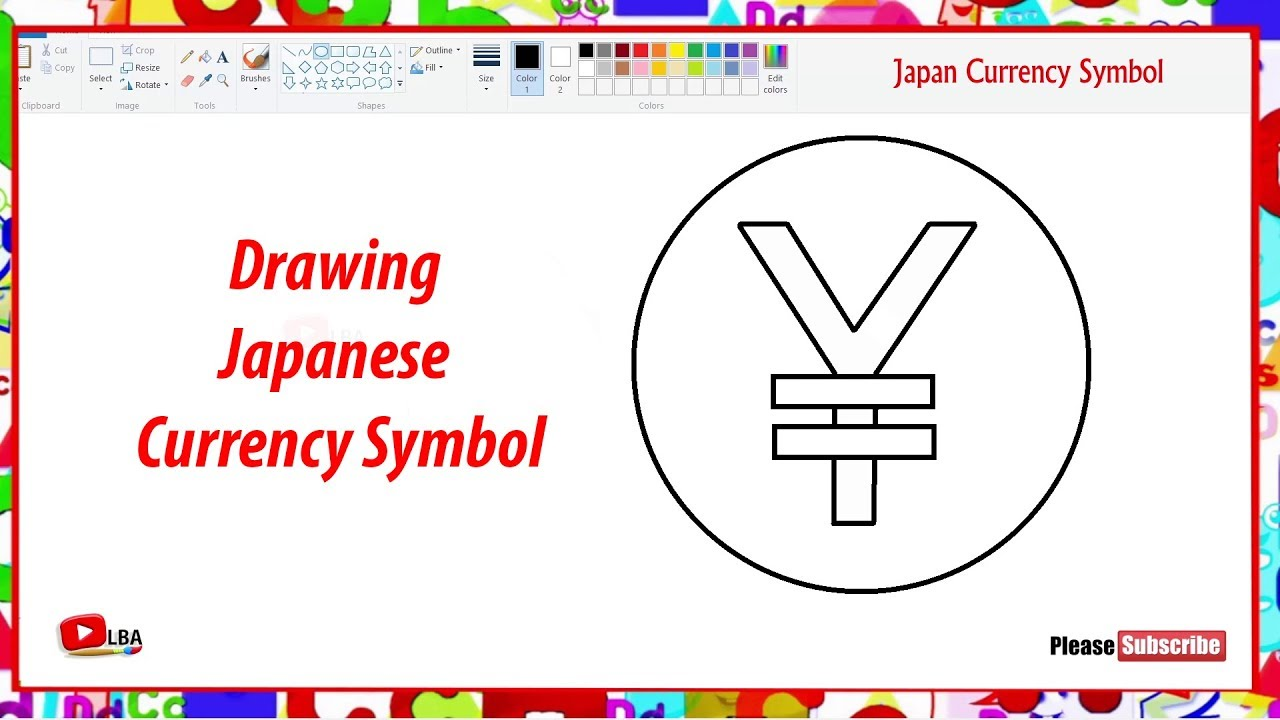 Drawing Japanese Currency Symbols Learnbyart Youtube