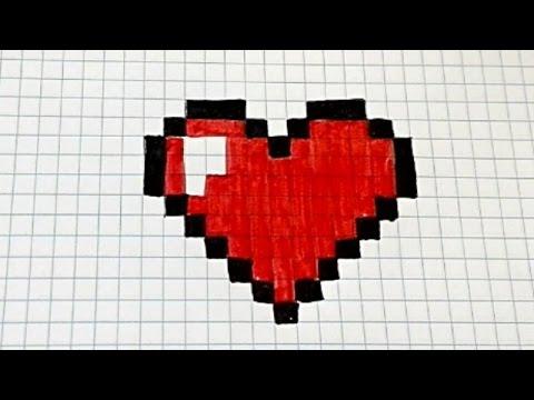 Draw Handmade Pixel Art Como Dibujar Un Corazon