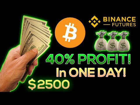 How I Made +40% PROFIT Trading Bitcoin In 1 DAY!!! (Binance Futures)