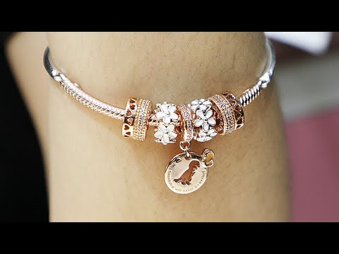 Autumn 2019 PANDORA Rose Themed STYLING Idea - Moment 3-Link Charm Bracelet
