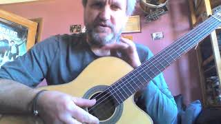 Guitar with Mike Reeman - 8, 4, 2, 1 warm up exercise part 1.