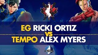EG Ricki Ortiz (Chun Li) VS Tempo Victrix Alex Myers (Cammy) - Canada Cup 2019 Pools - CPT 2019