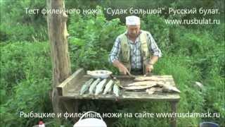 Филе щуки на рыбалке. Тест филейного ножа  ''Судак большой''. Отзыв ''Русский булат''