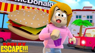 Roblox Escape The Giant Burger Obby With Molly!
